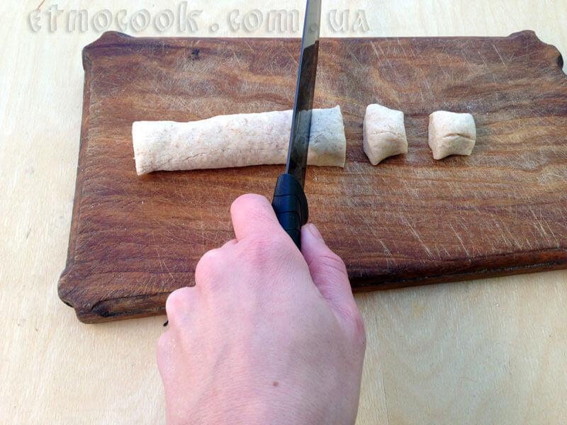 Varenyky de harina integral de chucrut